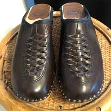 Troentorp Bastad Swedish Leather Wood Clogs 36