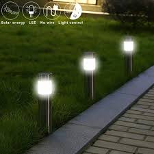 Lantern Pathway Lights Us 3 8 26 Off Stainless Steel Stud Floor Solar Light Pathway Lamp Outdoor Led Solar Powered Garden Path Stake Lanterns Lamps In Solar Lamps From