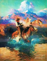 pd painting the wild west by pg reions