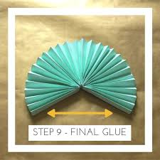 how to make a paper fan wheel. now that all three sections have been glued together remains is to glue the wheel into a circle. if you are making these in advance i would highly how make paper fan