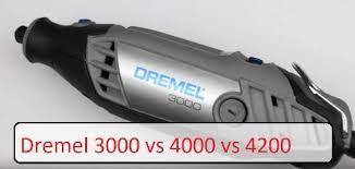 Dremel Tool Comparison Chart Dremel 3000 Vs 4000 Vs 4200 Rotary Tool Comparison Chart