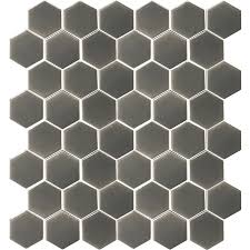 allen roth charcoal honeycomb mosaic ceramic wall tile common 12 in x