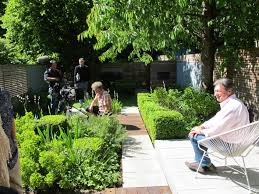Small Picture Alan Titchmarsh filming Love Your Garden for ITV North London