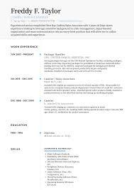Package Handler Resume Samples And Templates Visualcv