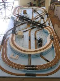 17 best ideas about kato unitrack kato trains a foot layout showing the sections of cut foam for use in building the track elevations and bridge areas n scale