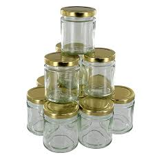 clear round glass jars 190ml 12 pack