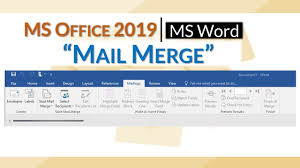 Word Mail Merge Ms Word 2019 Mail Merge