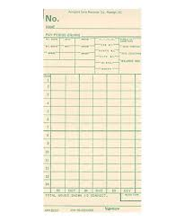 Bi Weekly Time Card Atr440 Bi Weekly Time Card Acroprint Time Recorder Co