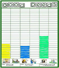 Good Deed Chart Islamic Bulletin Boards