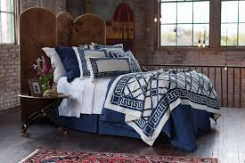 lili alessandra jon l bedding navy linen with accents bedding collection