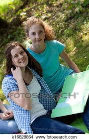 Stock Photo Of Young Teenage College Friends Studying Together
