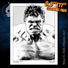 If he's professor hulk in avengers 4, i'm gonna be so pissed! Hulk Coloring Page Odyssey Art Art Of Brian C Roll