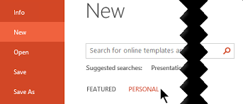 Use A Personal Template To Create A New Powerpoint