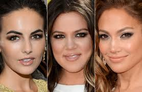 color or strong matte colors are widely used in american makeup style don t forget a touch of kissable gloss