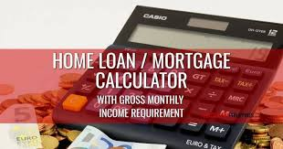 House Amortization Payment Calculator Home Loan And Mortgage Calculator With Gross Monthly Income