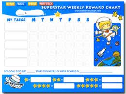 Superstar Weekly Reward Chart Chart