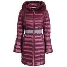 yandle long down coat with hood