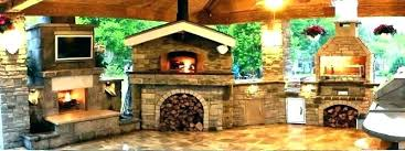 pizza oven smoker combo outdoor fireplace brick kitchen innovative accessories kitchens with ovens landscaping network plans