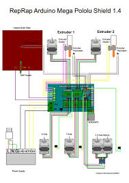 ramps 1 4 for reprap, arduino mega (assembled) electrodragon Arduino Wiring Diagram Blank at Create Arduino Mega Wiring Diagram