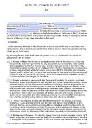 General Power Of Attorney Form Free Printable General Power of Attorney Forms 1