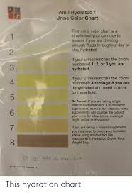 Guinea Pig Urine Chart Am I Hydrated Urine Color Chart This Urine Color Chart Is A