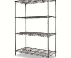 com alera 4 shelf wire shelving rack 48 x 18 72 practical alera wire shelving