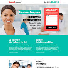 cal insurance instant quote responsive landing page design health insurance example