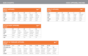 Nike Kids Shoe Size Chart 13 Punctual Nike Junior Size Guide