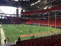 Atlanta Falcons Seating Chart With Rows Mercedes Benz Stadium Section 121 Row 19 Seat 12