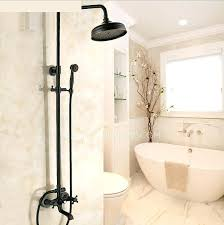 shower faucet systems black oil rubbed bronze cross handle exposed shower faucets system moen shower faucet
