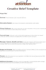 Project Brief Template Word Summary Report Free