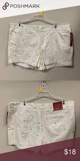 White Lemon Shorts Cute White Shorts With Lemon Designs