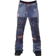 Burton Womens L A M B X Buju Cargo Pants Denim Print X
