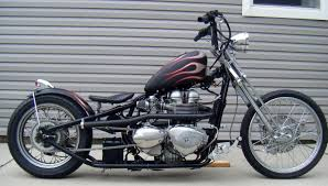 custom bobber motorcycle frames. Triumph Bonneville Motorcycle Chopper Bobber Rigid Frame Custom Springer Trump Card Frames