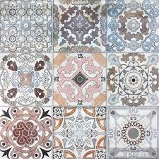 beautiful old ceramic tile wall patterns in the park public vinyl wall mural istaging