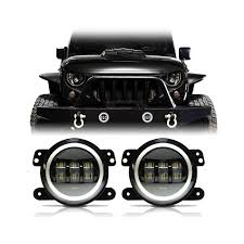 Halo Lights Com 60w Cree Led Halo Fog Lights For Jeep Wrangler