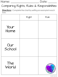 best rights and responsibilities ideas a complete unit to help you teach all about rights rules and responsibilities