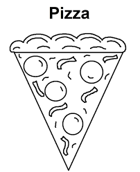Small Picture Pizza Coloring Pages Of Food For Kids Foods Coloring pages of