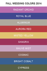 Top 10 Fall Wedding Colors 2014 Trends-my fall wedding color scheme is  sangria and