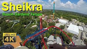 busch gardens ta sheikra diving roller coaster front seat on ride ult