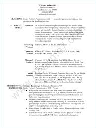 Network Administrator Resume Beautiful System Administrator Resume