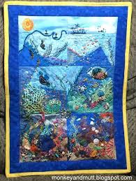 Hand Stitched Treasure: CQI Under the Sea Round Robin 2015 Quilt ... & CQI Under the Sea Round Robin 2015 Quilt Complete! Adamdwight.com