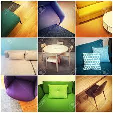 Colorful Interior Design colorful modern furniture interior design collage of nine photos 5286 by uwakikaiketsu.us