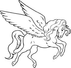 Small Picture Unicorn pegasus coloring pages wwwbloomscentercom
