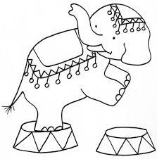 Numero Da Circo Di Un Elefante Da Colorare Cose Per Crescere