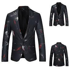 koaisd men s autumn winter formal slim long sleeve suit jacket trench coat top blouse