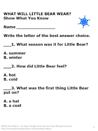 Little Bear Reading Comprehension Questions | Comprehension ...