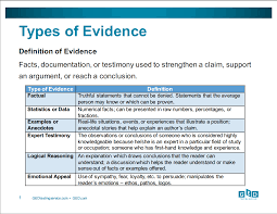 using the high impact indicators skill sets to focus on in your types of evidence