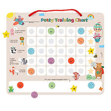 Putska Potty Training Magnetic Reward Chart For Toddlers Potty Chart With Multicolored Emoji Star Stickers Motivational Toilet Training For Boys