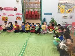 Các bé lớp C1 trường Mẫu giáo Tuổi Thơ vui học toán